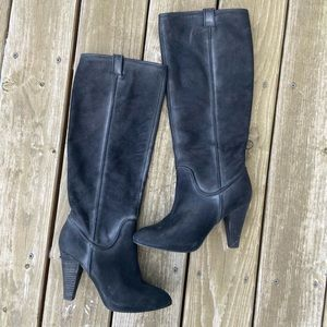 Joie distressed leather knee high boots 38 black